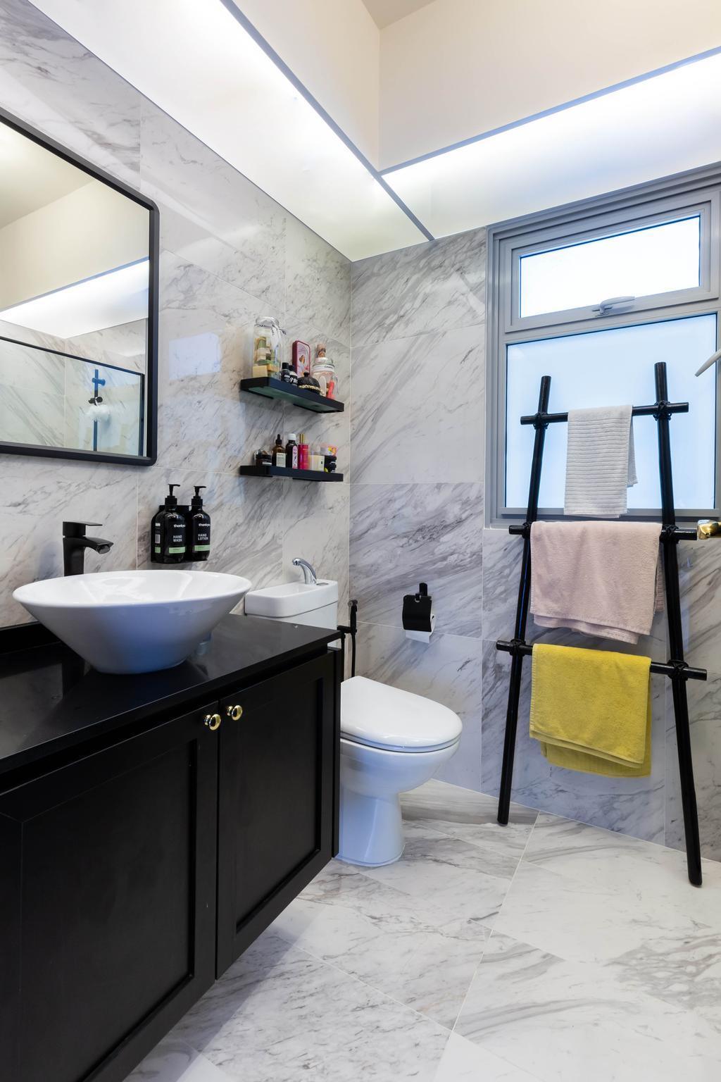 Contemporary, HDB, Bathroom, Tampines North Drive 1, Interior Designer, Renex Interior