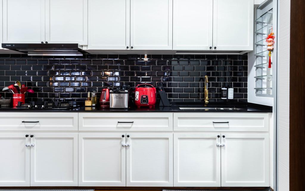 Contemporary, HDB, Kitchen, Tampines North Drive 1, Interior Designer, Renex Interior