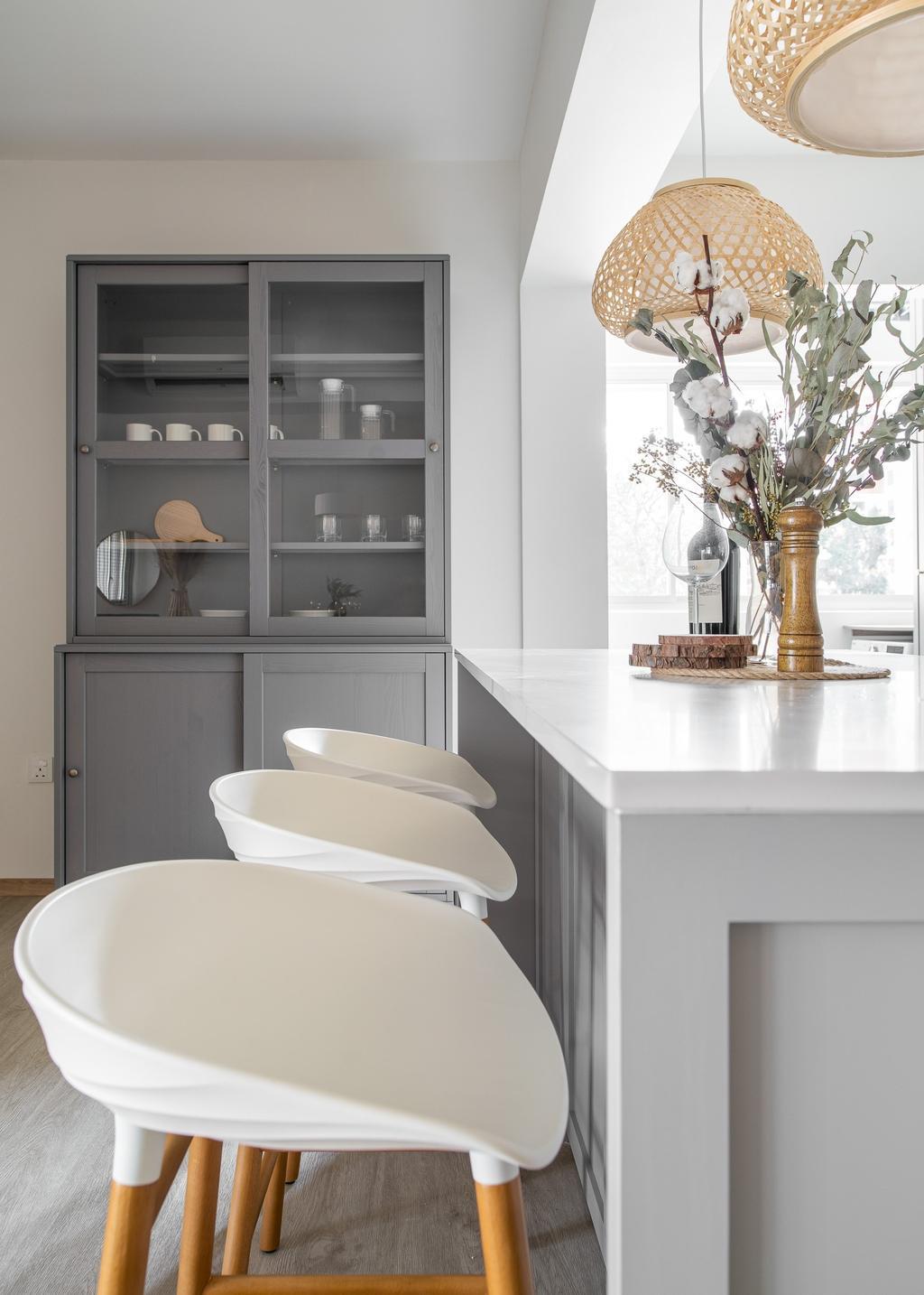 Scandinavian, HDB, Kitchen, Ang Mo Kio Court, Interior Designer, Mr Shopper Studio