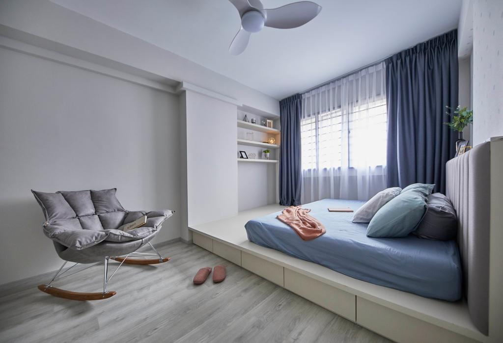 Modern, HDB, Bedroom, Jurong West Street 74, Interior Designer, i-Chapter, Contemporary