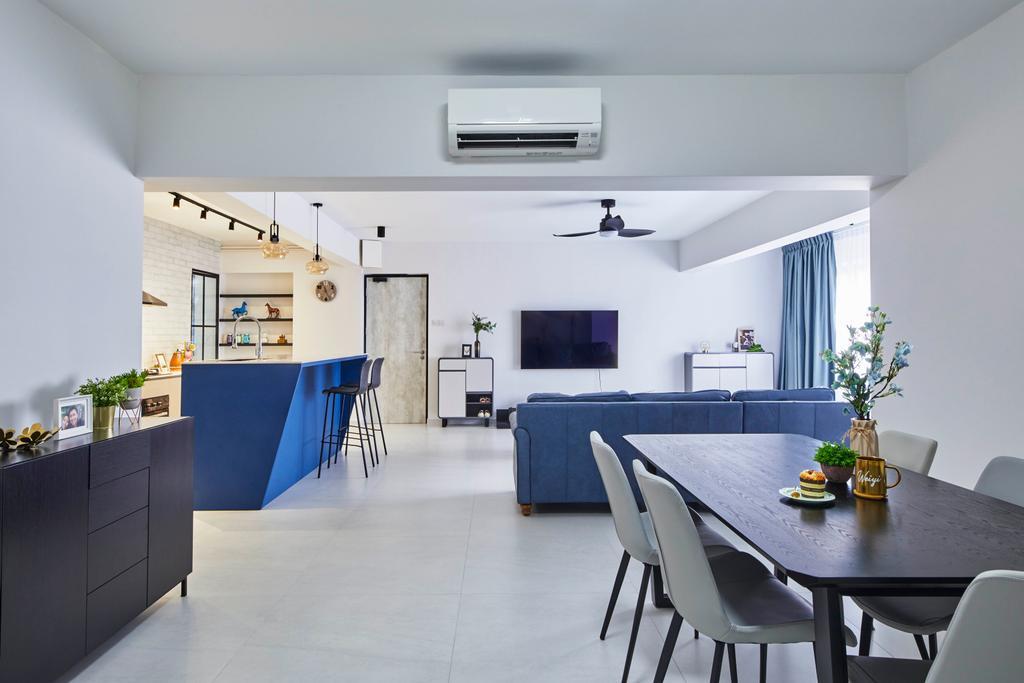 Modern, HDB, Living Room, Jurong West Street 74, Interior Designer, i-Chapter, Contemporary