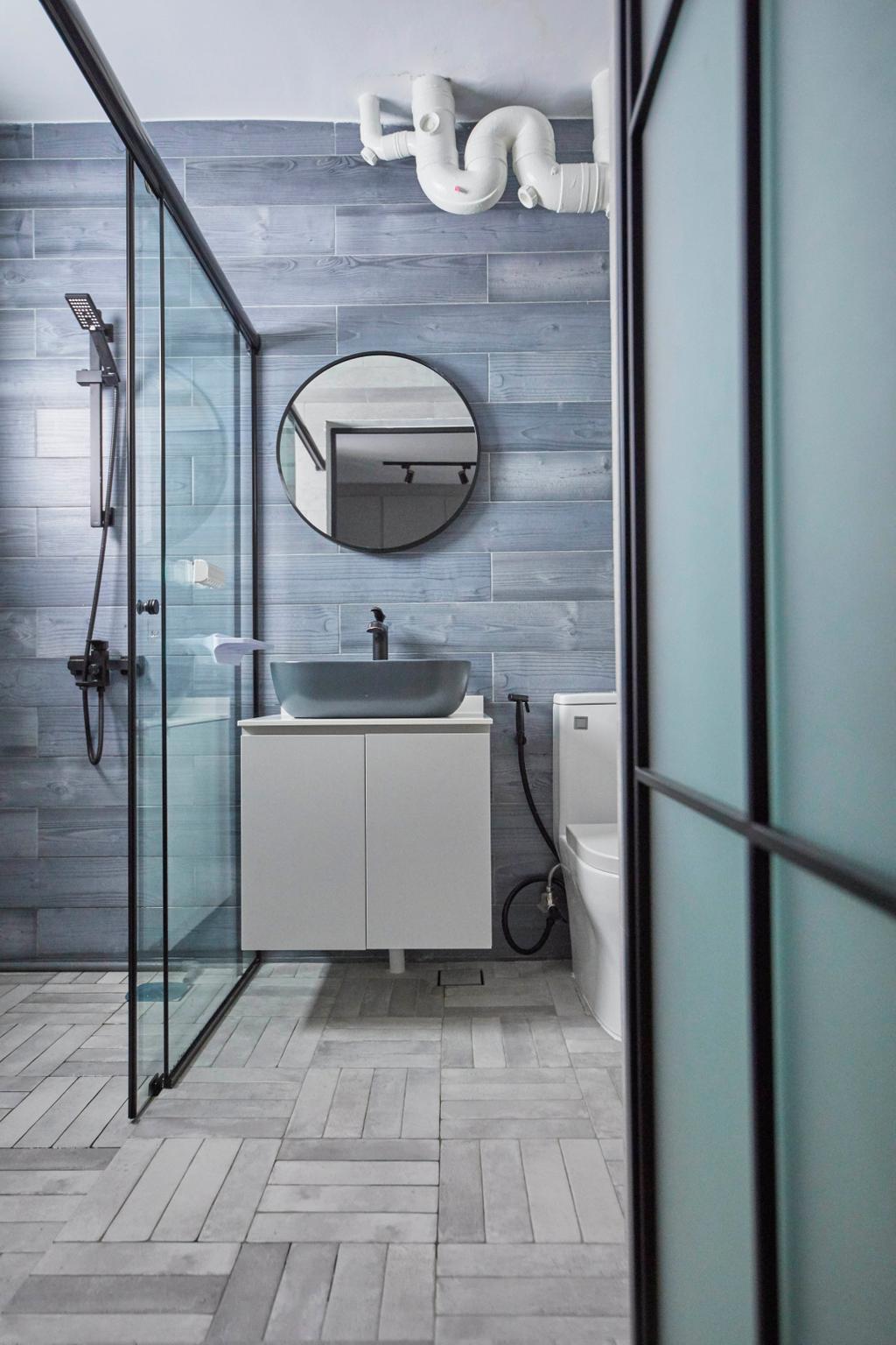 Modern, HDB, Bathroom, Jurong West Street 74, Interior Designer, i-Chapter, Contemporary