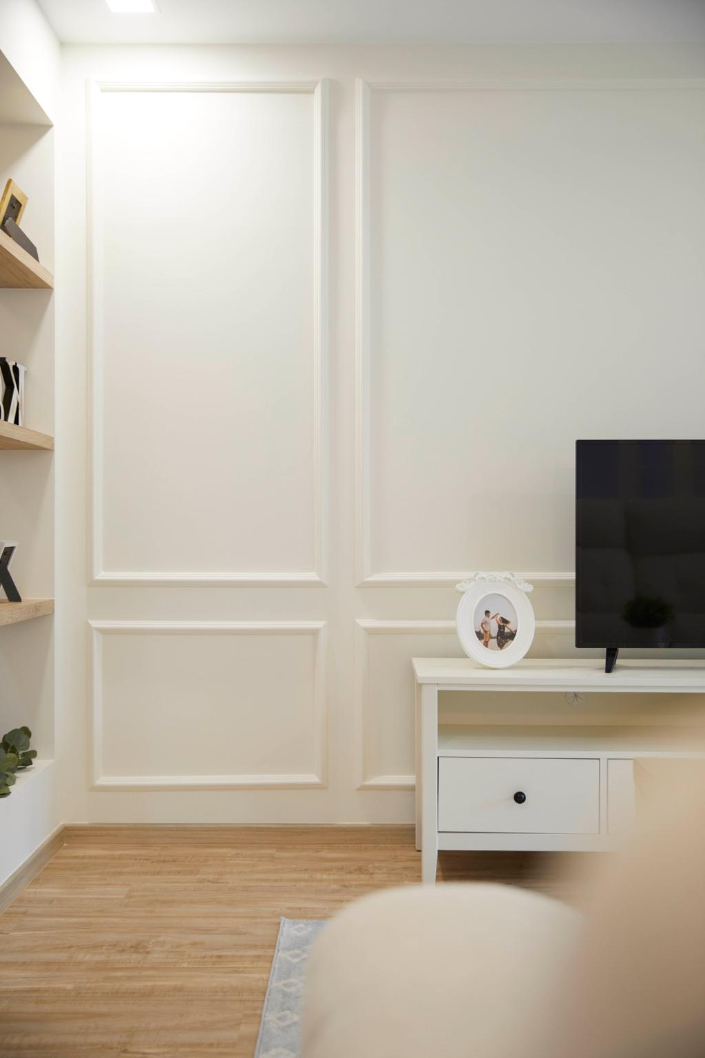 Modern, HDB, Living Room, Hougang Ave 9, Interior Designer, i-Chapter, Contemporary