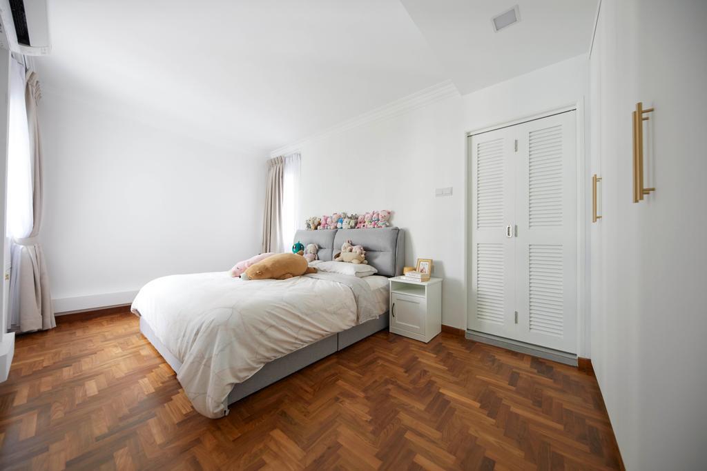 Modern, HDB, Bedroom, Hougang Ave 9, Interior Designer, i-Chapter, Contemporary