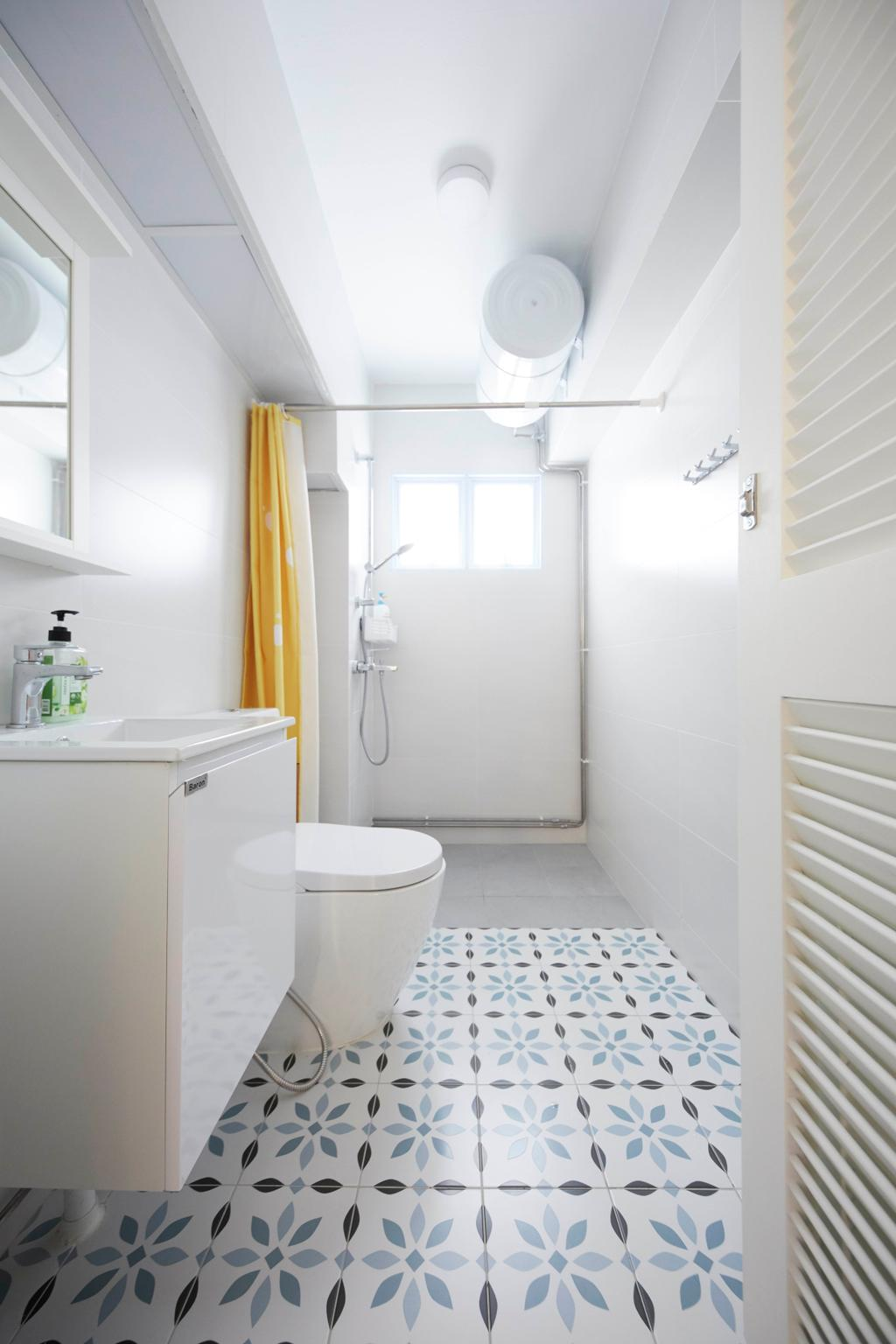 Modern, HDB, Bathroom, Hougang Ave 9, Interior Designer, i-Chapter, Contemporary