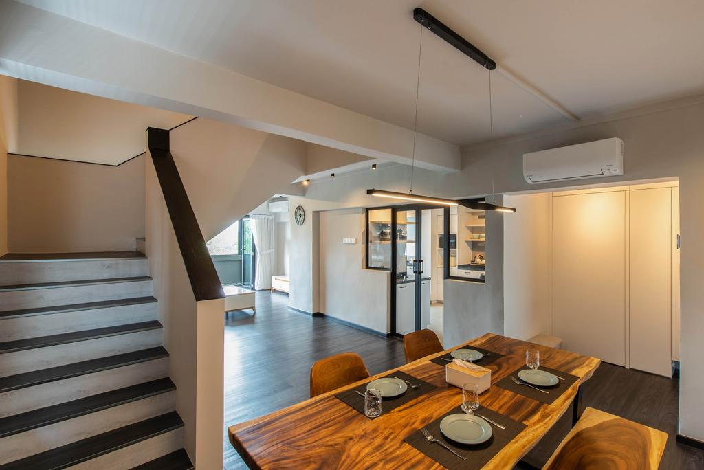 Modern, HDB, Dining Room, Jurong West Street 42, Interior Designer, Dyel Design, Contemporary