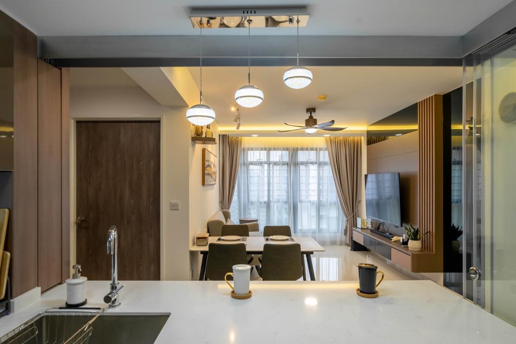 Modern, HDB, Living Room, Bidadari Park Drive, Interior Designer, Design 4 Space
