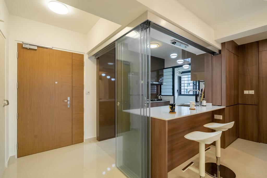 Modern, HDB, Kitchen, Bidadari Park Drive, Interior Designer, Design 4 Space