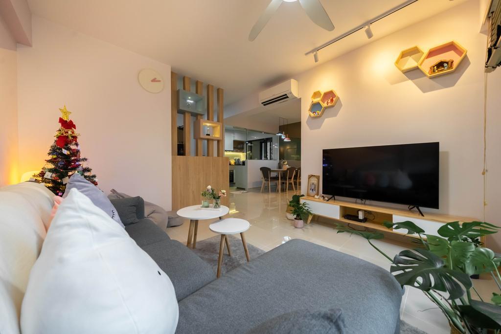 Modern, HDB, Living Room, West Plains @ Bukit Batok, Interior Designer, Design 4 Space, Scandinavian