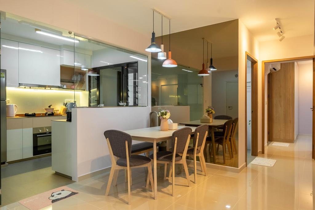 Modern, HDB, Dining Room, West Plains @ Bukit Batok, Interior Designer, Design 4 Space, Scandinavian