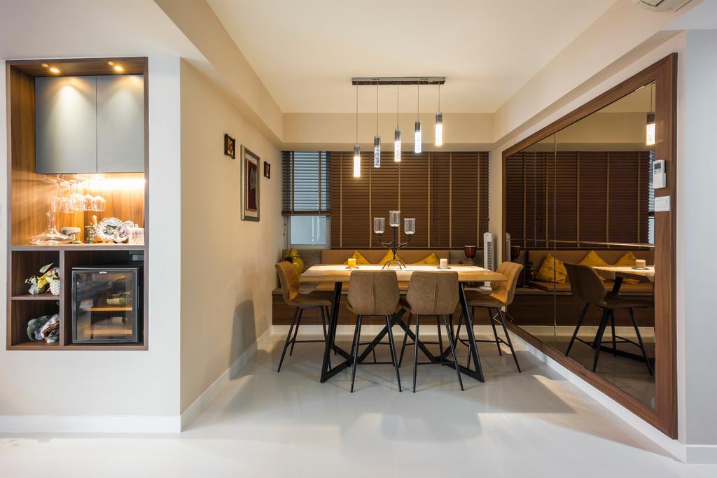 Contemporary, Condo, Dining Room, One Amber, Interior Designer, Flo Design