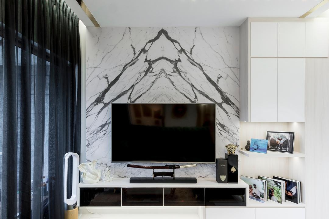 Austville Residences Living Room Interior Design 5