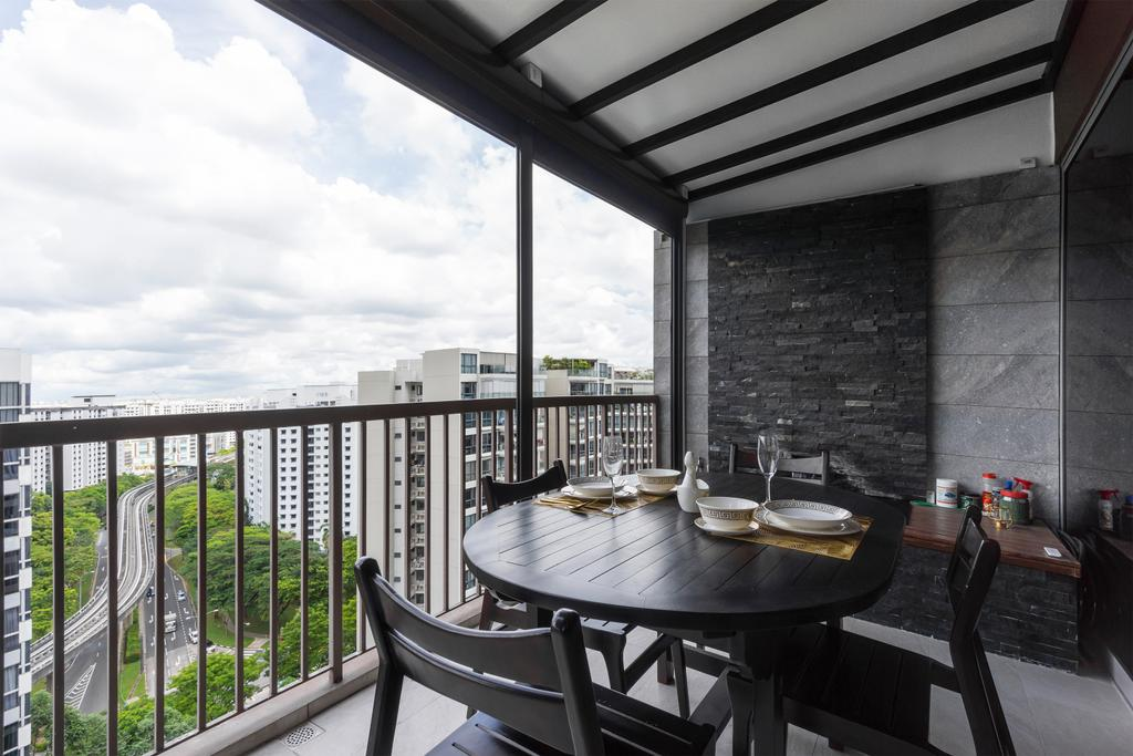 Modern, Condo, Balcony, Austville Residences, Interior Designer, Flo Design, Contemporary