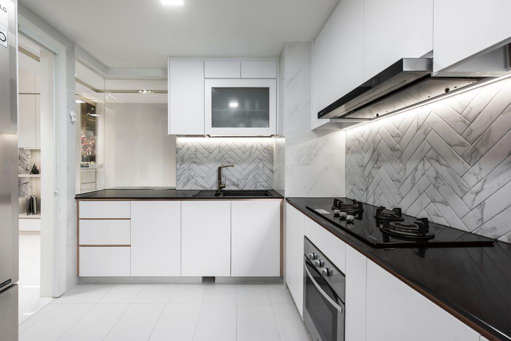 Modern, Condo, Kitchen, Austville Residences, Interior Designer, Flo Design, Contemporary
