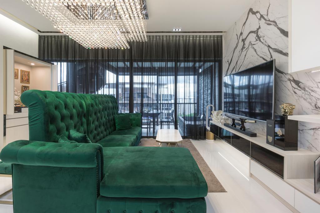 Modern, Condo, Living Room, Austville Residences, Interior Designer, Flo Design, Contemporary