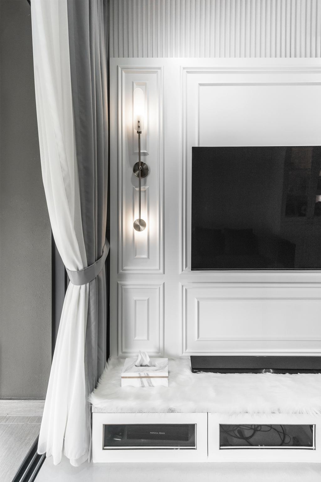 Contemporary, Condo, Living Room, North Park Residences, Interior Designer, Flo Design