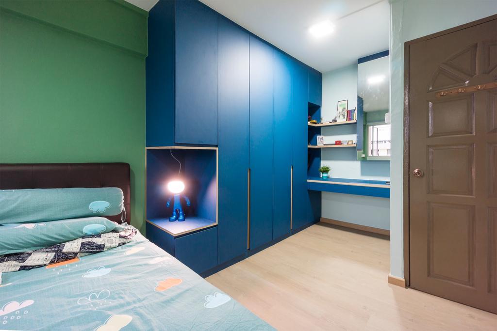 Contemporary, HDB, Bedroom, Ang Mo Kio Avenue 4, Interior Designer, Flo Design