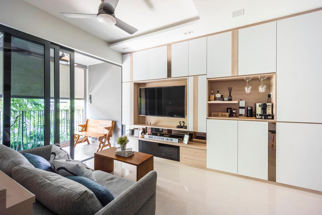 Contemporary, Condo, Living Room, Hundred Palm Residences, Interior Designer, Flo Design