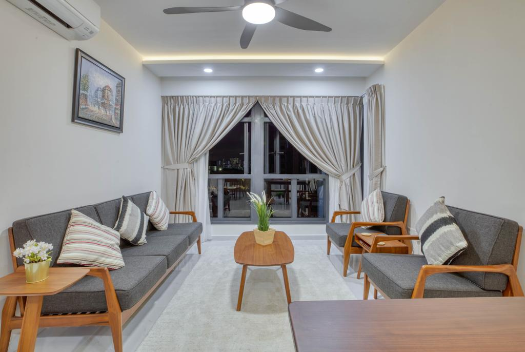 Modern, HDB, Living Room, Bidadari Park Drive, Interior Designer, Carpenter Direct, Scandinavian
