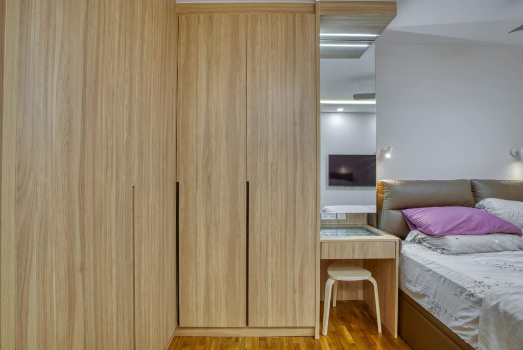 Modern, HDB, Bedroom, Bidadari Park Drive, Interior Designer, Carpenter Direct, Scandinavian