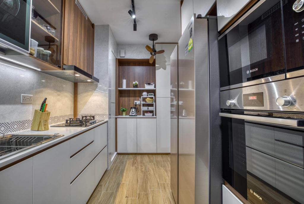 Modern, HDB, Kitchen, Bidadari Park Drive, Interior Designer, Carpenter Direct, Scandinavian