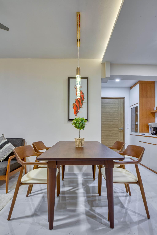 Modern, HDB, Dining Room, Bidadari Park Drive, Interior Designer, Carpenter Direct, Scandinavian