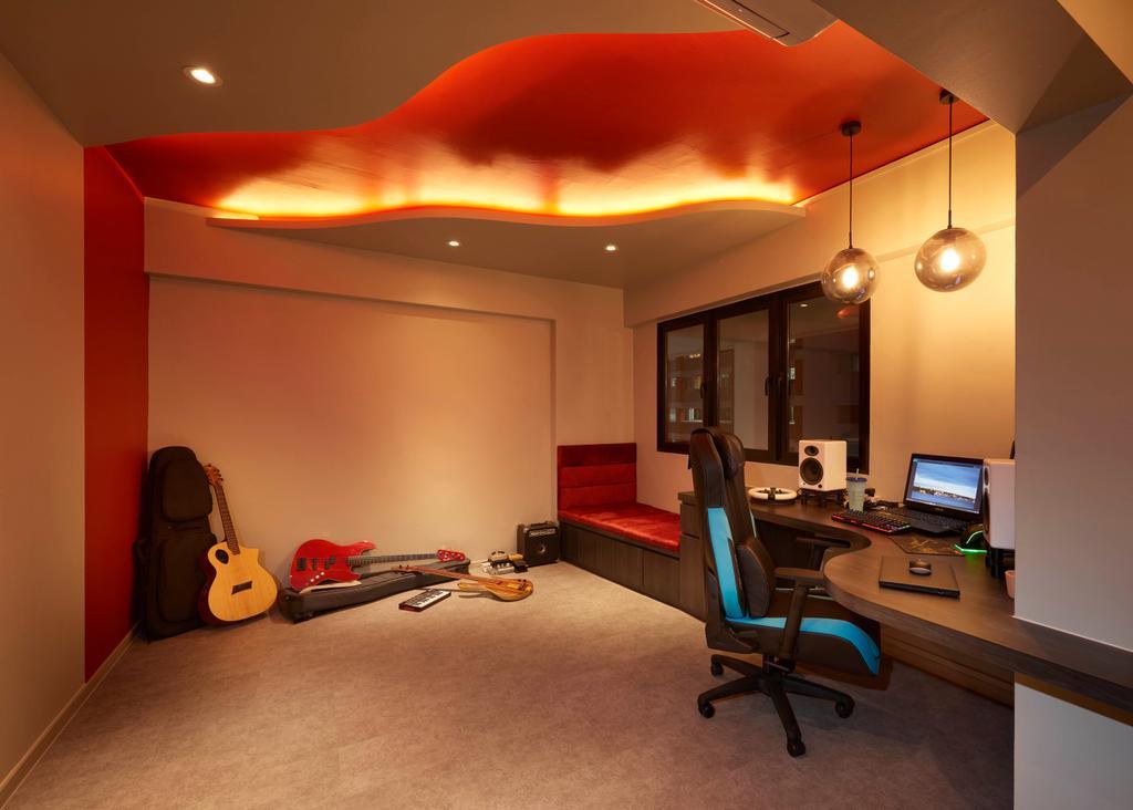 Modern, HDB, Study, Hougang, Interior Designer, Spire Id, Contemporary