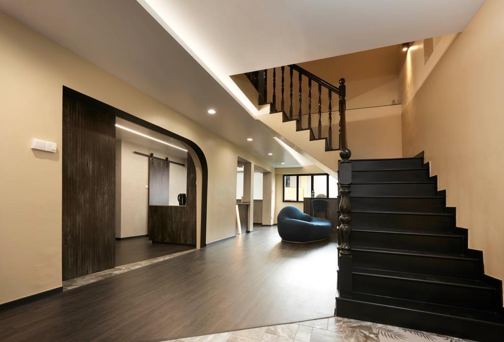 Modern, HDB, Living Room, Hougang, Interior Designer, Spire Id, Contemporary, Maisonette