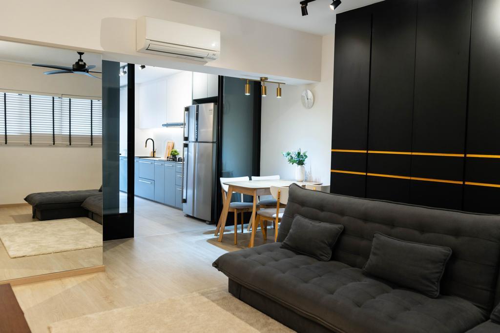 Contemporary, HDB, Living Room, Potong Pasir Avenue 3, Interior Designer, Hashtag Interior