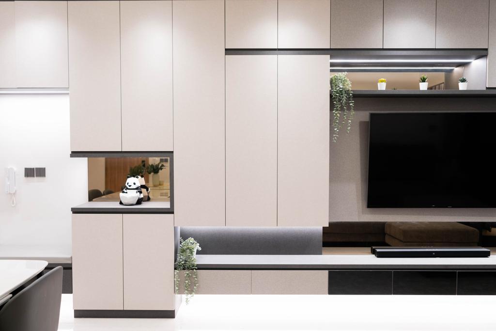 Modern, Condo, Living Room, Hundred Palms Residences, Interior Designer, Hashtag Interior, Contemporary