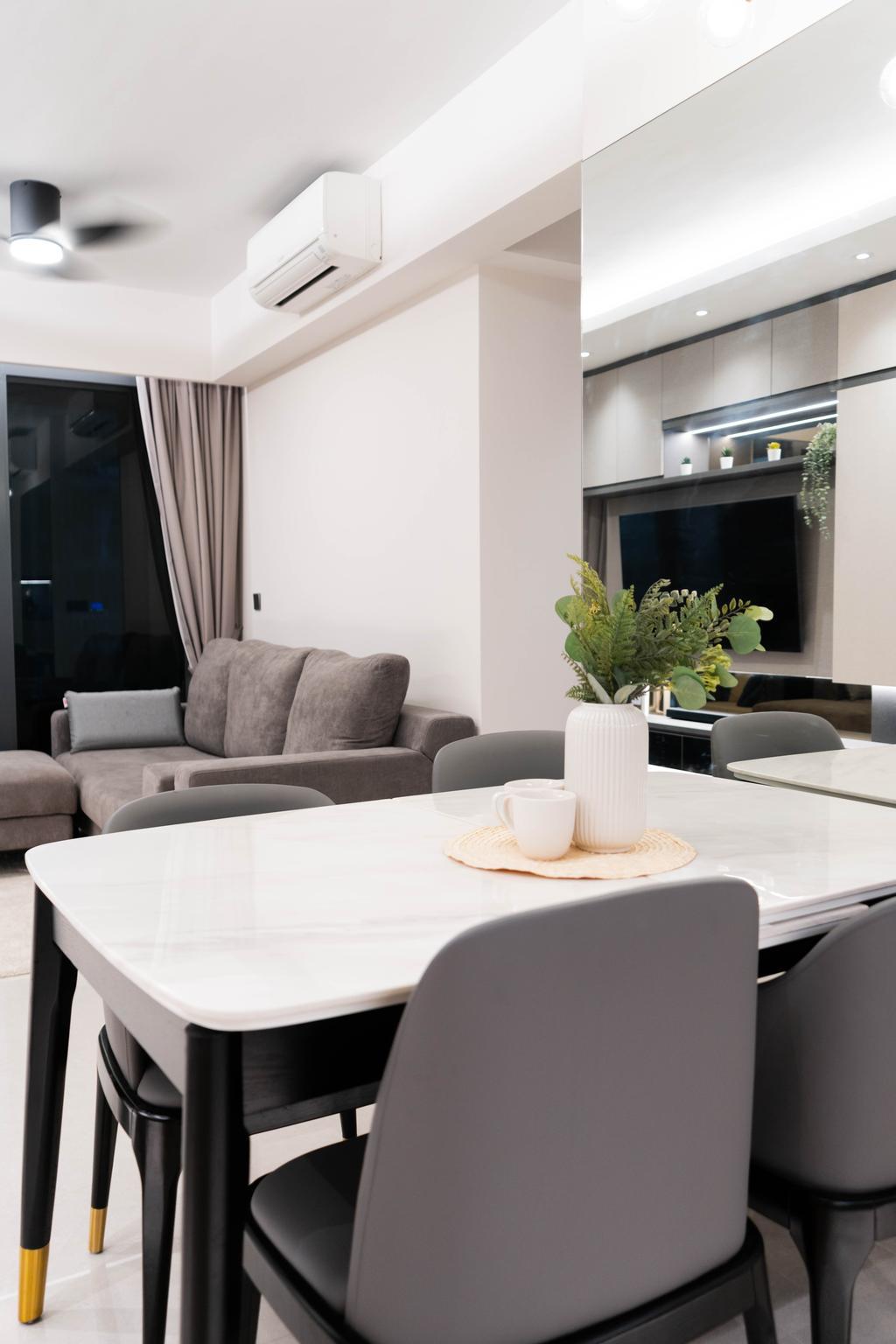 Modern, Condo, Dining Room, Hundred Palms Residences, Interior Designer, Hashtag Interior, Contemporary