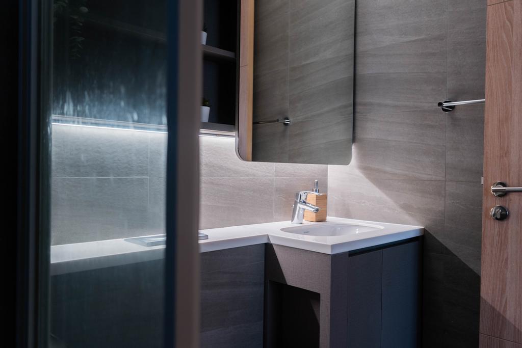 Modern, Condo, Bathroom, Hundred Palms Residences, Interior Designer, Hashtag Interior, Contemporary