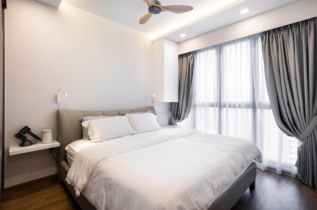 Modern, Condo, Bedroom, Rivercove Residences, Interior Designer, U-Home Interior Design, Minimalistic