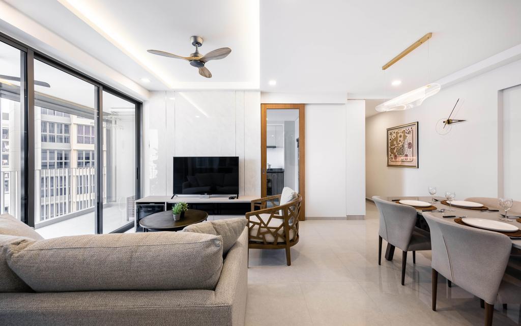 Modern, Condo, Living Room, Rivercove Residences, Interior Designer, U-Home Interior Design, Minimalistic