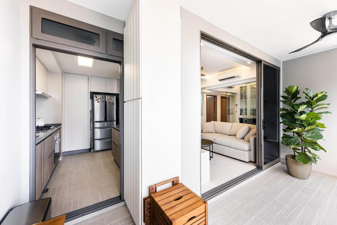 Rivercove Residences, U-Home Interior Design, Modern, Minimalistic, Balcony, Condo
