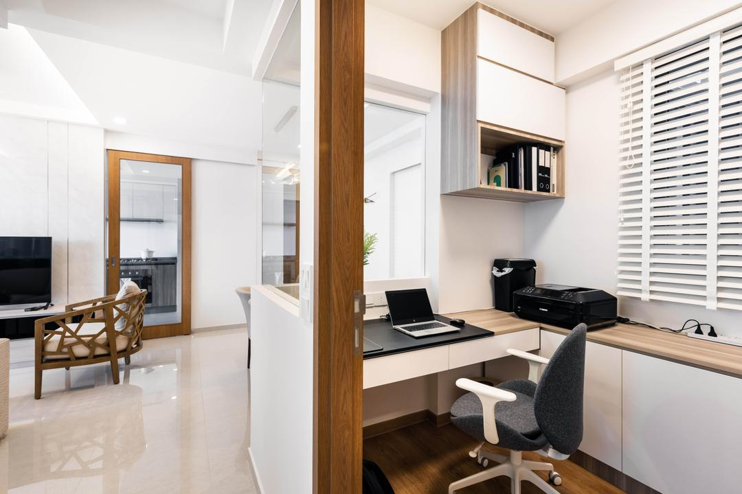 Rivercove Residences, U-Home Interior Design, Modern, Minimalistic, Study, Condo