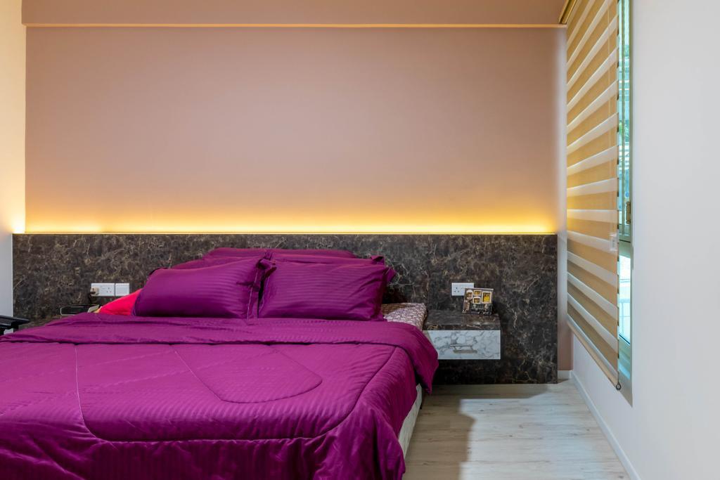 Modern, HDB, Bedroom, Rivervale Crest, Interior Designer, Design Identity