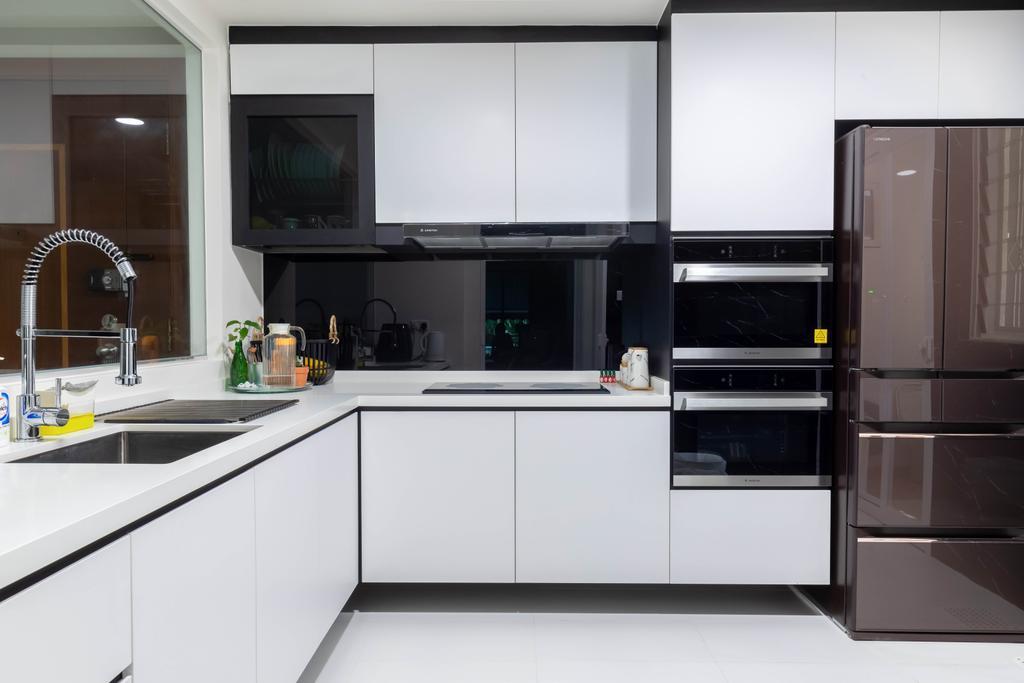 Modern, HDB, Kitchen, Rivervale Crest, Interior Designer, Design Identity