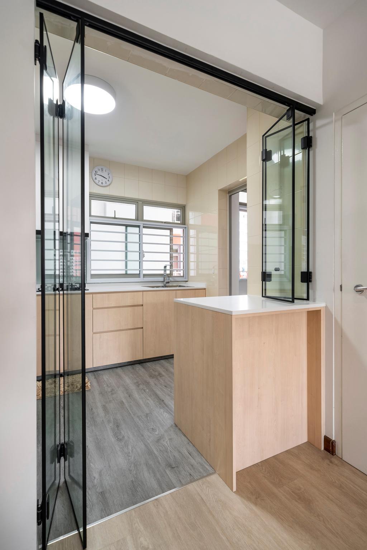 Modern, HDB, Kitchen, Sengkang Central, Interior Designer, Arteloft, Scandinavian