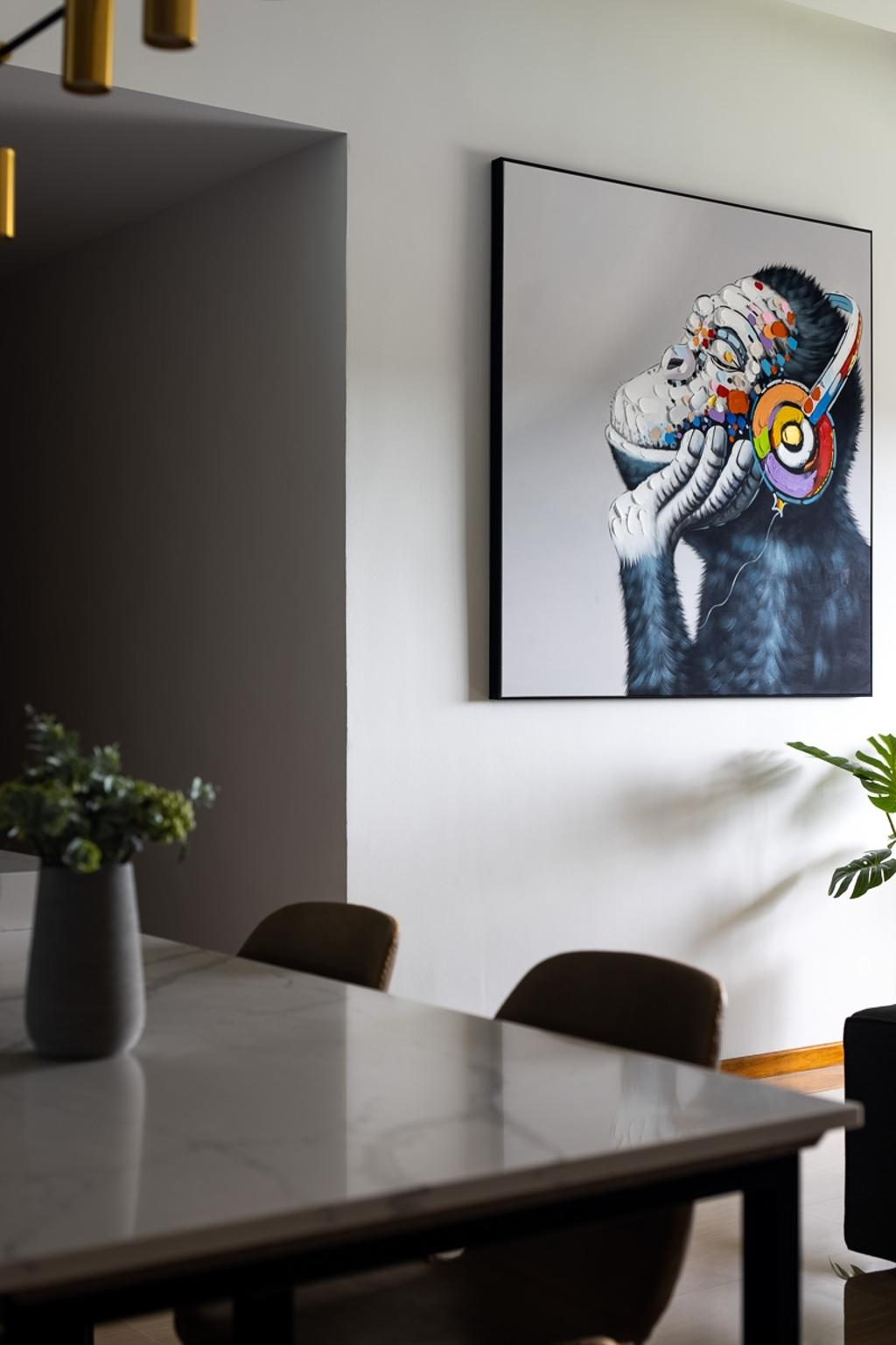 Contemporary, Condo, Dining Room, Queensway Tower, Interior Designer, Anhans Interior Design