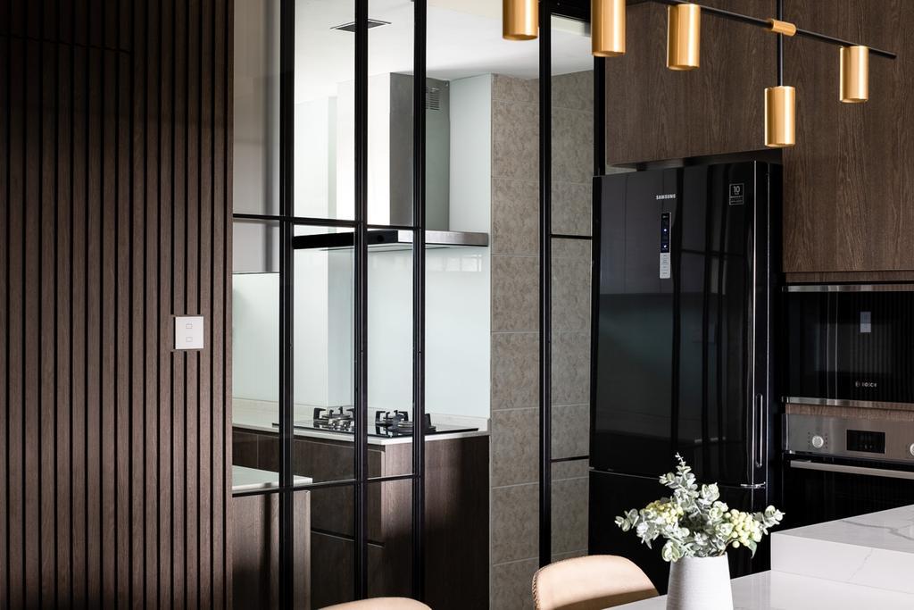 Contemporary, Condo, Kitchen, Queensway Tower, Interior Designer, Anhans Interior Design