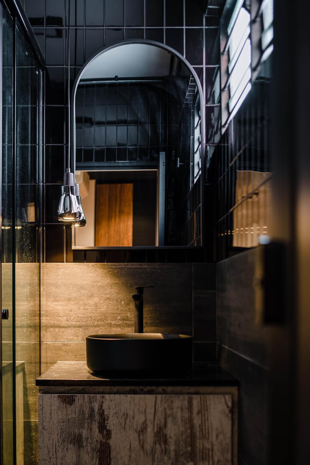 Contemporary, HDB, Bathroom, Potong Pasir, Interior Designer, Insight.Out Studio, Industrial