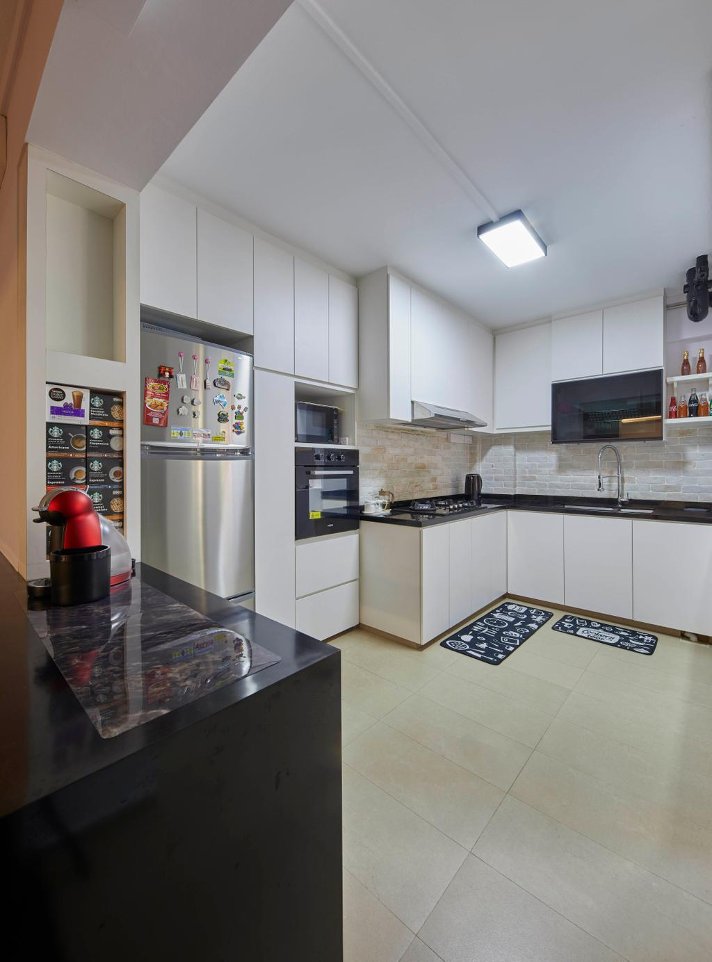 Modern, HDB, Kitchen, Tampines Street 83, Interior Designer, i-Chapter
