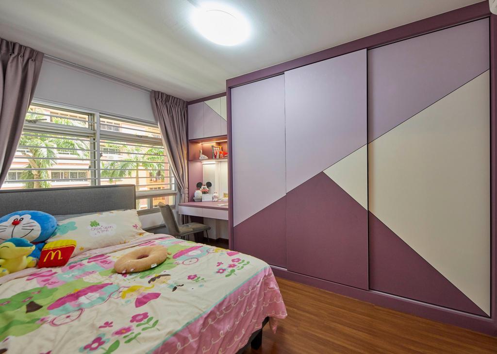 Modern, HDB, Bedroom, Tampines Street 83, Interior Designer, i-Chapter