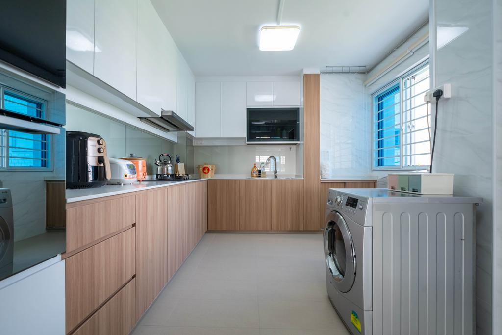 Modern, HDB, Kitchen, Hougang Street 51, Interior Designer, Design 4 Space