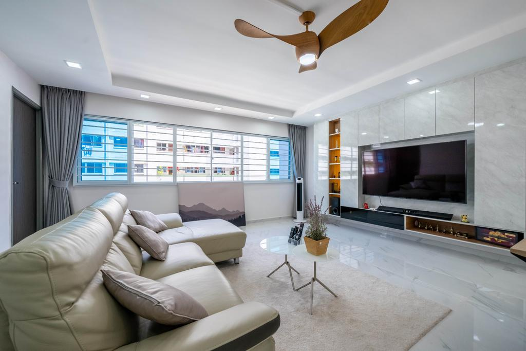 Modern, HDB, Living Room, Hougang Street 51, Interior Designer, Design 4 Space