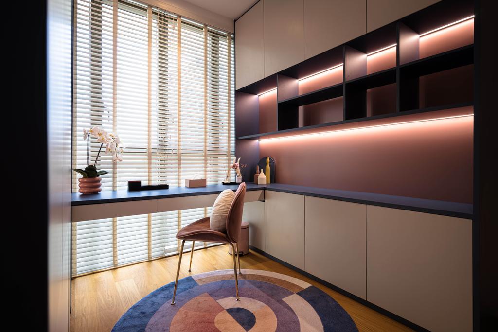 Contemporary, Condo, Study, Park Place Residences, Interior Designer, Mr Shopper Studio