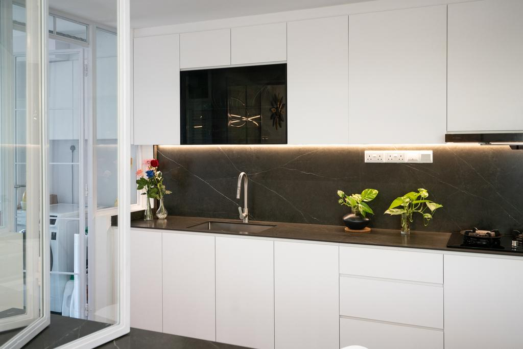 Modern, Condo, Kitchen, Northvale, Interior Designer, ChengYi Interior Design, Contemporary