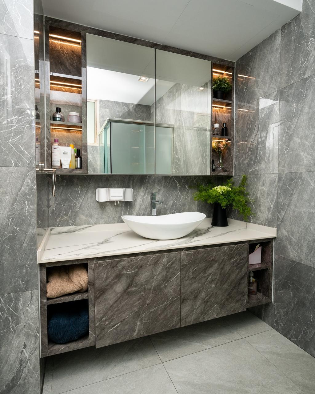 Modern, Condo, Bathroom, Northvale, Interior Designer, ChengYi Interior Design, Contemporary