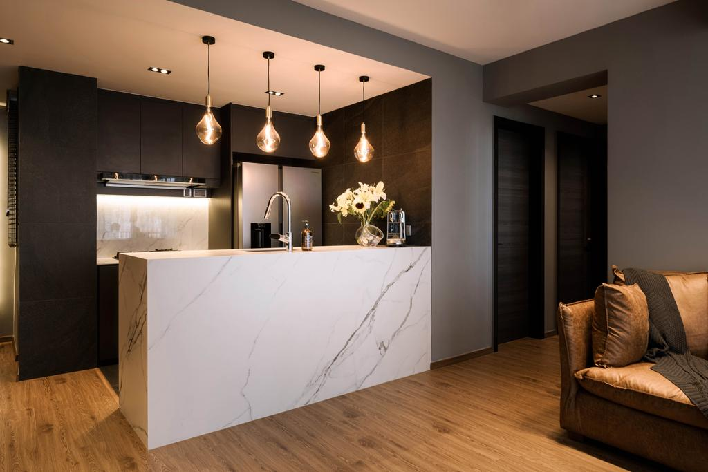 Modern, Condo, Kitchen, Sant Ritz, Interior Designer, SHE Interior